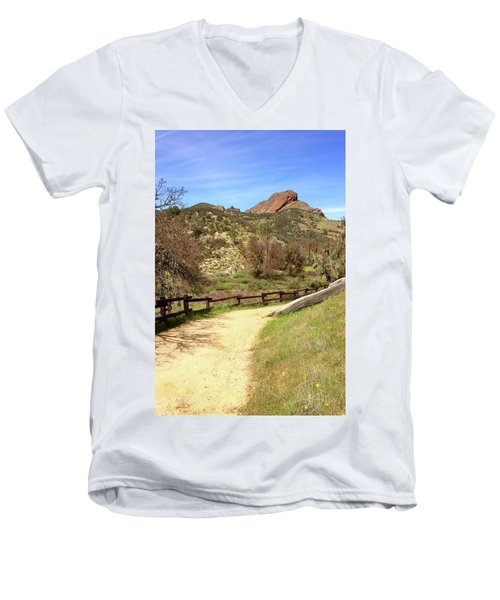 Men's V-Neck T-Shirt featuring the photograph Balconies Trail - Pinnacles National Park by Art Block Collections