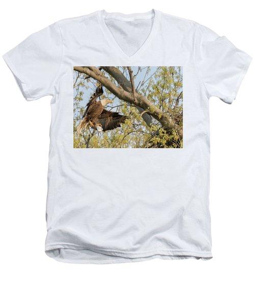 Bald Eagle Catch Of The Day  Men's V-Neck T-Shirt