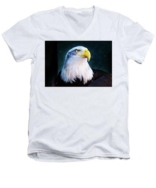 Bald Eagle Close Up Men's V-Neck T-Shirt