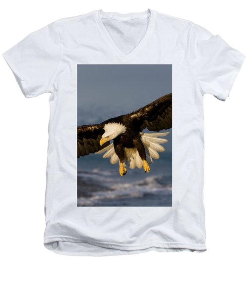Bald Eagle In Action Men's V-Neck T-Shirt