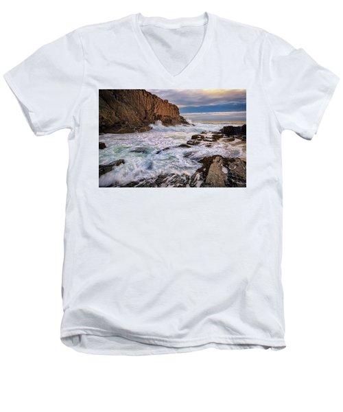 Bald Head Cliff Men's V-Neck T-Shirt by Rick Berk