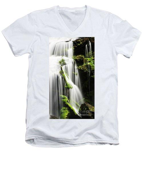 Bald River Falls Men's V-Neck T-Shirt