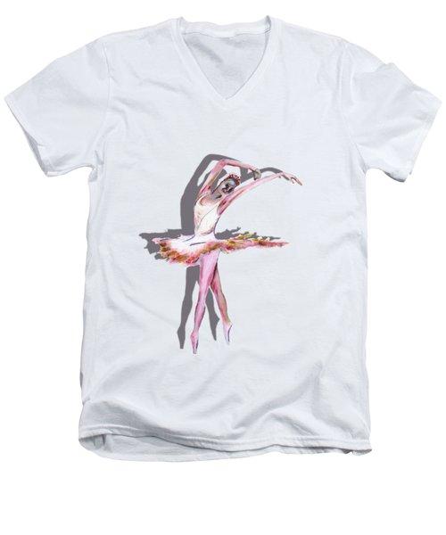 The Ballerina Dance Art Remix Men's V-Neck T-Shirt by Tom Conway