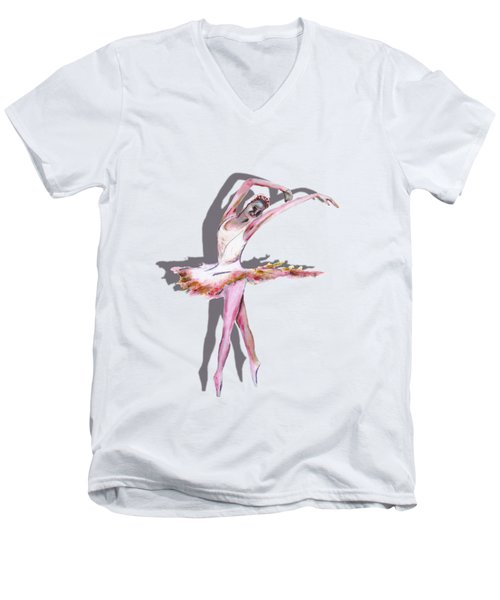 The Ballerina Dance Art Remix Men's V-Neck T-Shirt