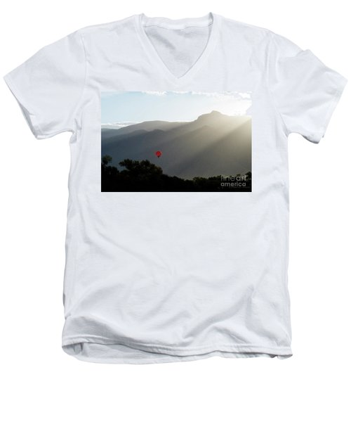 Balloon At Sunrise Men's V-Neck T-Shirt
