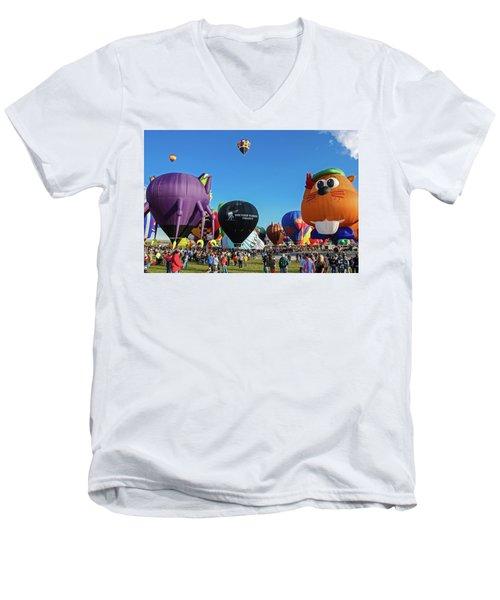 Balloon Fiesta Albuquerque I Men's V-Neck T-Shirt