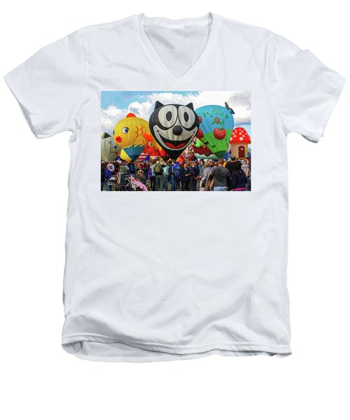 Balloon Fiesta Albuquerque II Men's V-Neck T-Shirt