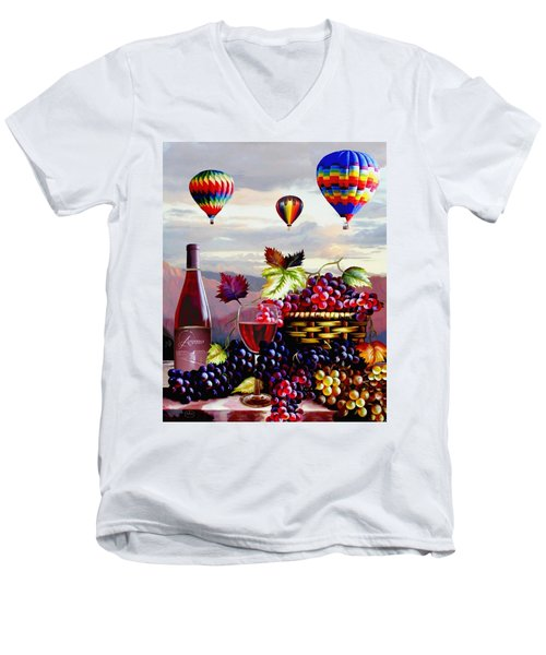 Balloon Ride At Dawn Men's V-Neck T-Shirt