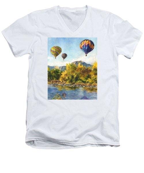 Balloons At Twin Lakes Men's V-Neck T-Shirt