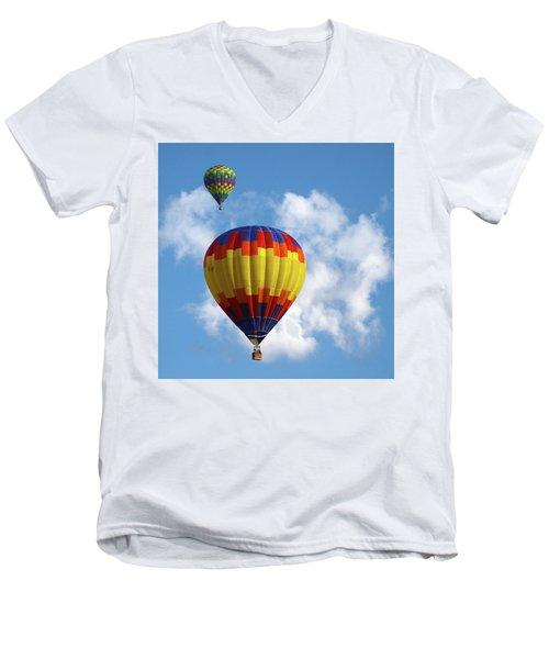 Balloons In The Cloud Men's V-Neck T-Shirt