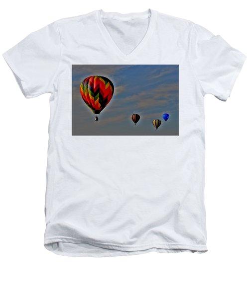 Balloons In The Sky Men's V-Neck T-Shirt