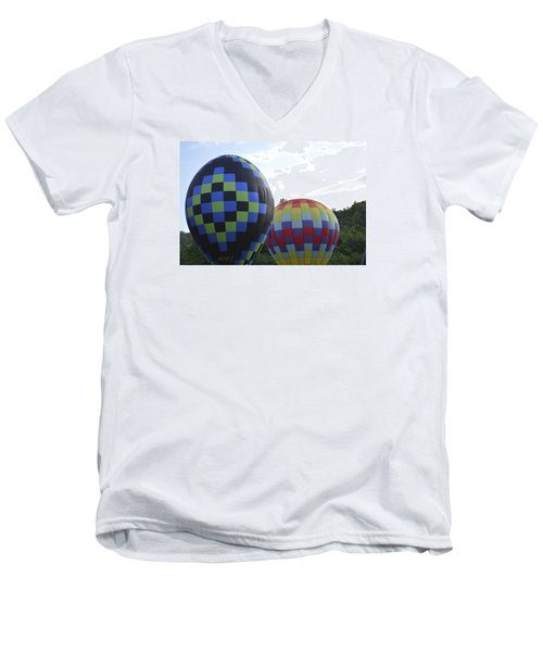 Balloons Waiting For The Weather To Clear Men's V-Neck T-Shirt by Linda Geiger