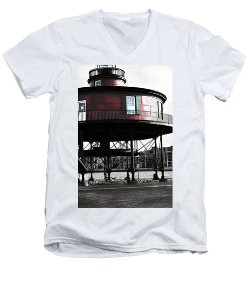 Baltimore Lighthouse Men's V-Neck T-Shirt