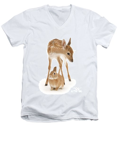 Bambi And Thumper Men's V-Neck T-Shirt