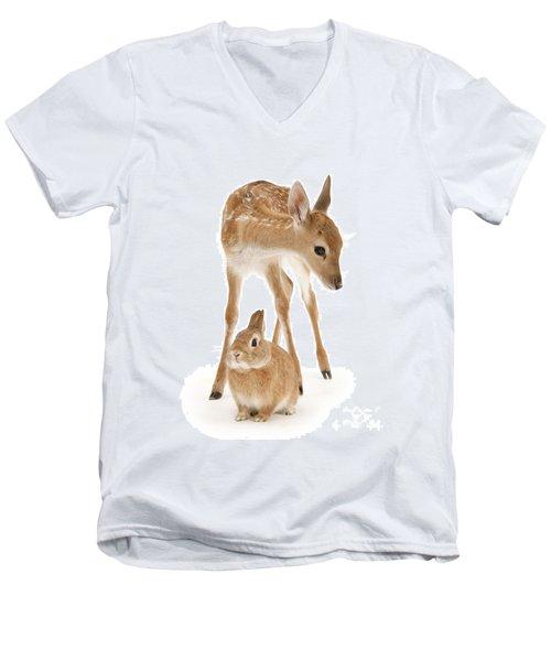 Bambi And Thumper Men's V-Neck T-Shirt