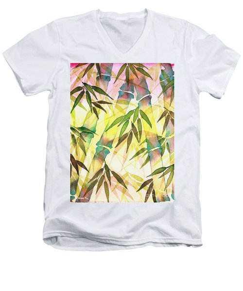 Bamboo Sunrise Men's V-Neck T-Shirt