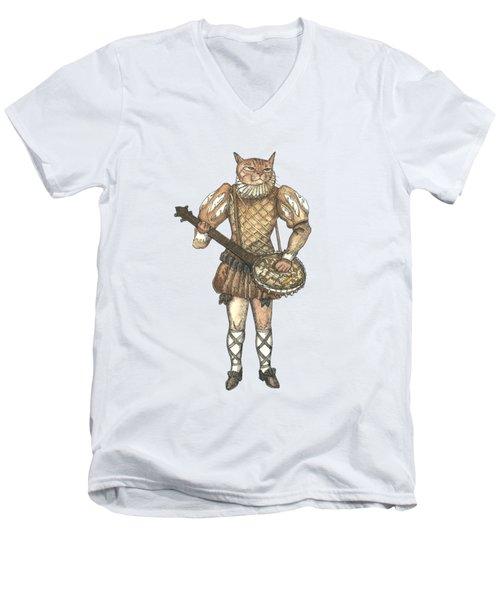 Banjo Cat Men's V-Neck T-Shirt
