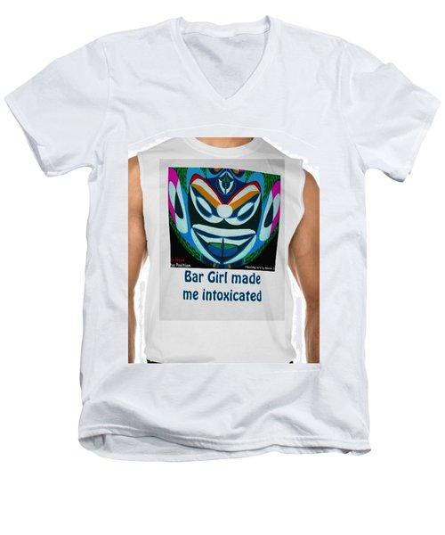 Bar Girl Made Me Intoxicated By Navinjoshi Fineartamerica Pixels Men's V-Neck T-Shirt by Navin Joshi