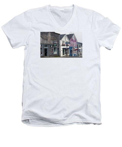 Bar Harbor Men's V-Neck T-Shirt by Helen Haw