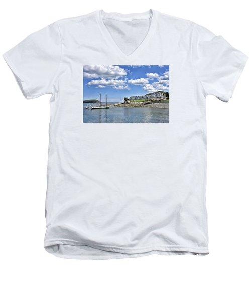 Bar Harbor Inn - Maine Men's V-Neck T-Shirt by Brendan Reals