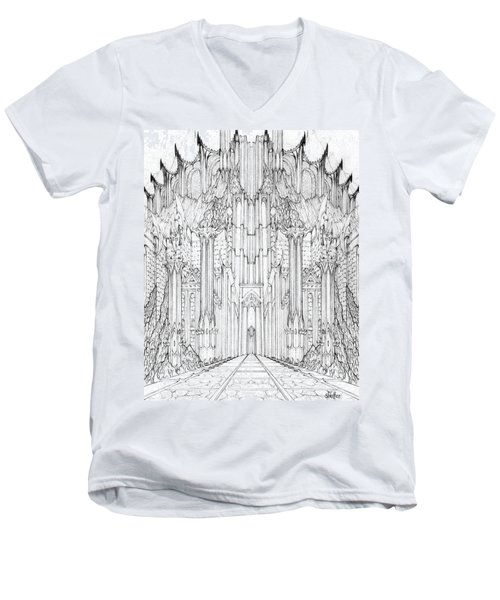 Barad-dur Gate Study Men's V-Neck T-Shirt