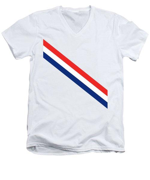 Barber Stripes Men's V-Neck T-Shirt