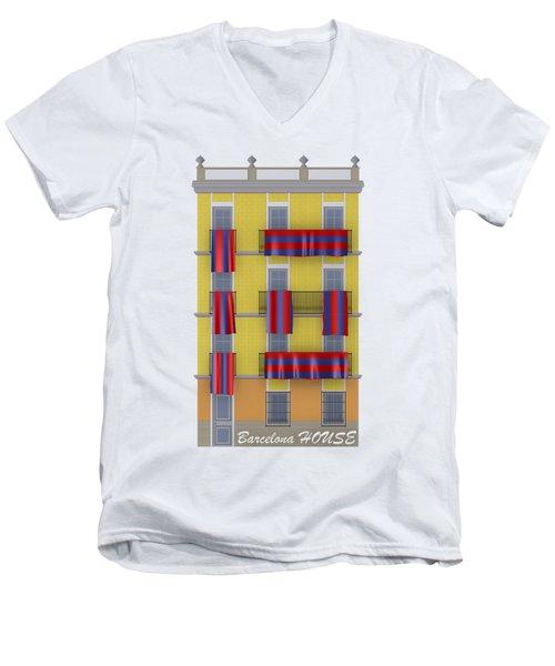 Barcelona House Men's V-Neck T-Shirt
