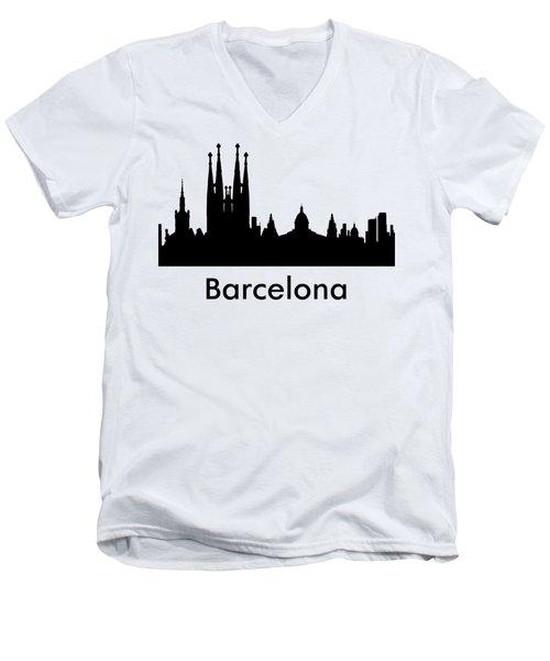 Barcelona Men's V-Neck T-Shirt