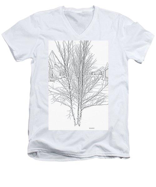 Bare Naked Tree Men's V-Neck T-Shirt