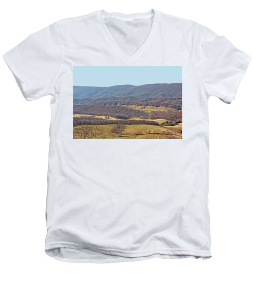 Men's V-Neck T-Shirt featuring the photograph Bare Winter by Denise Romano