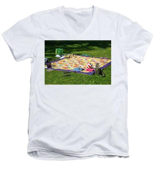 Barefoot In The Grass Men's V-Neck T-Shirt
