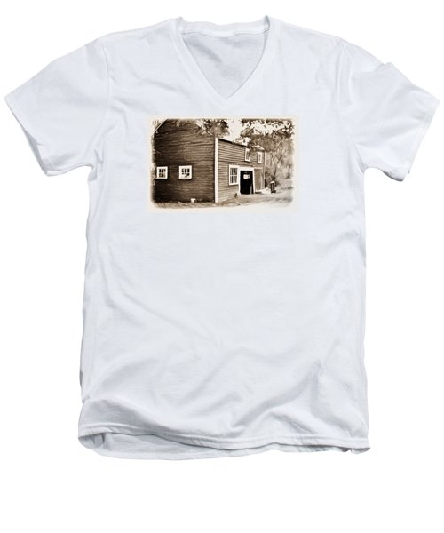Barn In The Woods Men's V-Neck T-Shirt