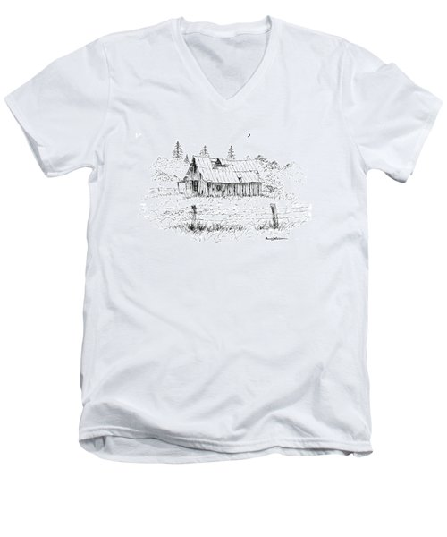 Barn With Skylight Men's V-Neck T-Shirt