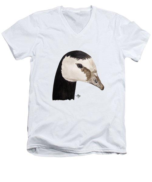 Barnacle Goose Portrait Men's V-Neck T-Shirt