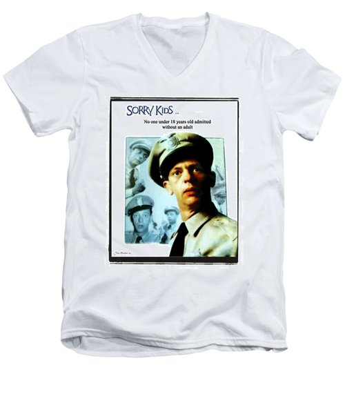 Barney Poster Men's V-Neck T-Shirt
