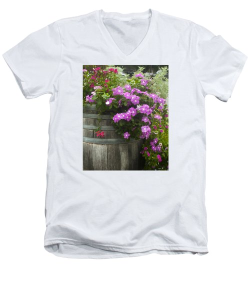 Barrel Of Flowers Men's V-Neck T-Shirt
