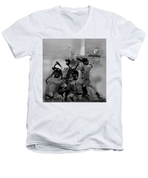 Base Ball Players Men's V-Neck T-Shirt by Gull G