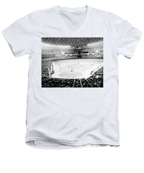Baseball: Astrodome, 1965 Men's V-Neck T-Shirt
