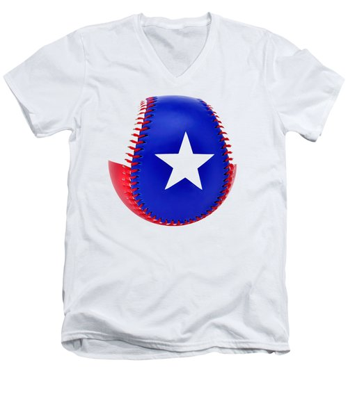 Baseball Star Men's V-Neck T-Shirt