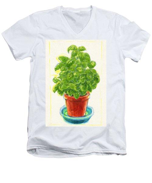 Basil Men's V-Neck T-Shirt