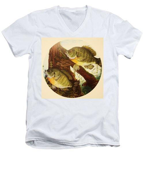 Basking Bluegills Men's V-Neck T-Shirt