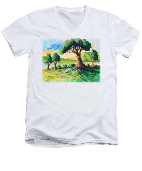 Basking In The Sun Men's V-Neck T-Shirt by Anthony Mwangi