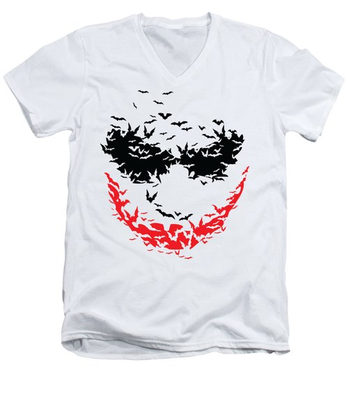 Bat Face Men's V-Neck T-Shirt