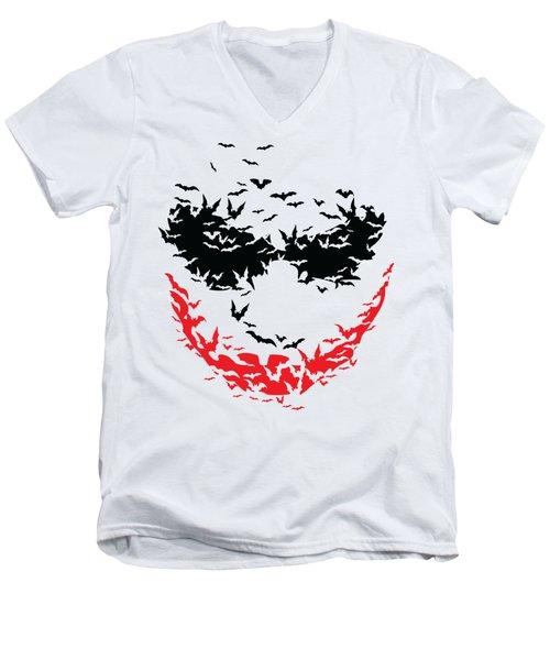 Bat Face Men's V-Neck T-Shirt
