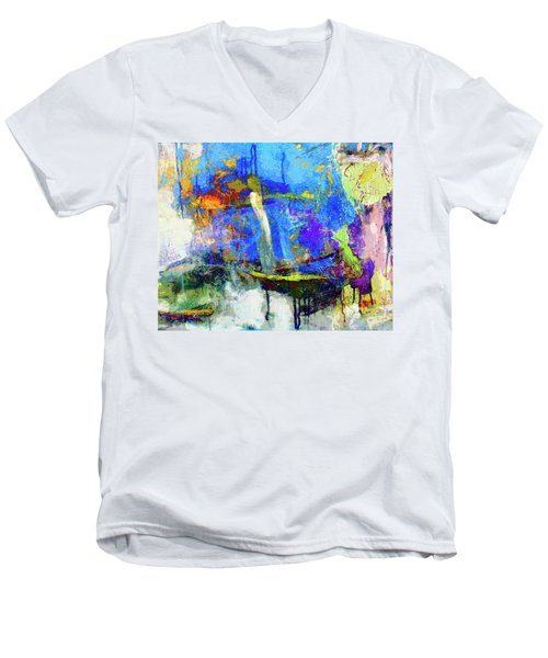 Men's V-Neck T-Shirt featuring the painting Bayou Teche by Dominic Piperata