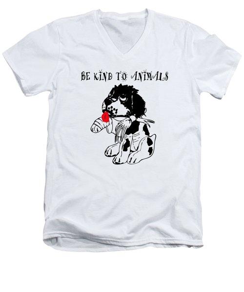 Be Kind To Animals Men's V-Neck T-Shirt