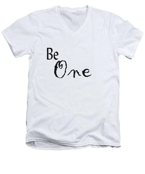Be One Men's V-Neck T-Shirt by Kerri Mortenson