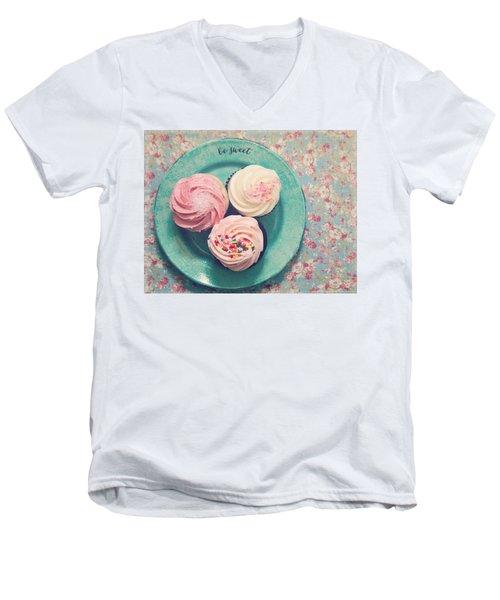 Be Sweet Men's V-Neck T-Shirt