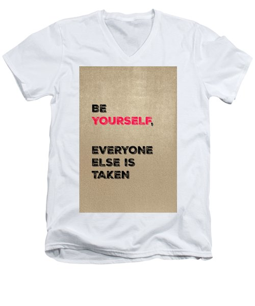 Be Yourself #3 Men's V-Neck T-Shirt