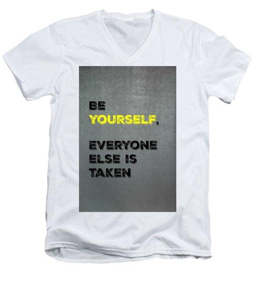 Be Yourself #4 Men's V-Neck T-Shirt